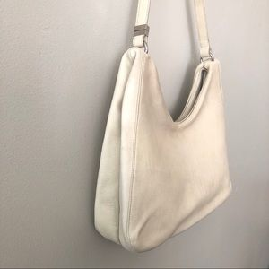 Cole Haan Leather Hobo Shoulder Bag Purse White